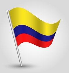 Colombian flag on pole vector