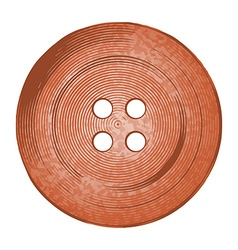 Copper sewing button in vintage stylev vector
