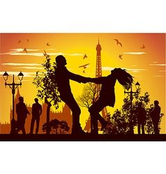swirling in Paris vector image
