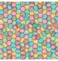 Abstract color swirl circle background vector