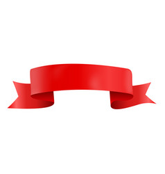 Abstract red ribbon template on white background vector