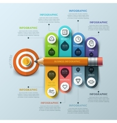 Business concept Pen and bubble speech arrow vector image