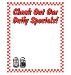 Check out our daily specials vector