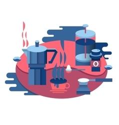 Coffee at breakfast design vector