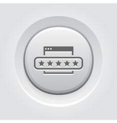 Customer Feedback Icon Grey Button Design vector image