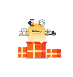Delivery logistics serveces icons set move boxes vector image vector image