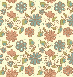 floral ornament of summer background vector image