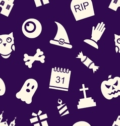 Halloween seamless pattern vector