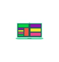 Laptop app Icon vector image