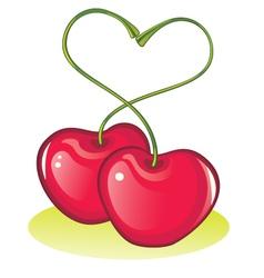love cherries vector image