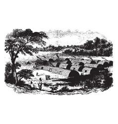 Manhattan island before the dutch settlement vector
