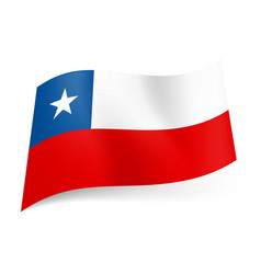 National flag of chile unequal white and red vector