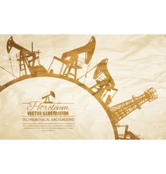 Oil pump circle frame vector image vector image