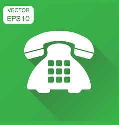 Phone icon business concept old vintage telephone vector