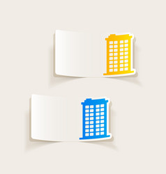 Realistic design element building vector