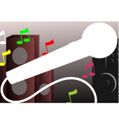 speaker and microphone vector image vector image