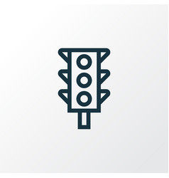 Stoplight outline symbol premium quality isolated vector