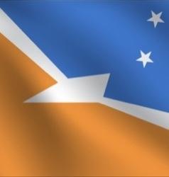 Tierra Del Fuego Province Argentina flag vector image