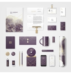 Trendy watercolor corporate identity vector