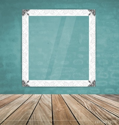 Vintage frame on brick wall vector image vector image