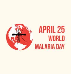 World malaria day style design vector