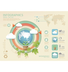 Infographic eco modern soft colo vector