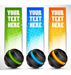 Set of banners with spheres vector image