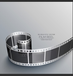 Realistic film strip background vector