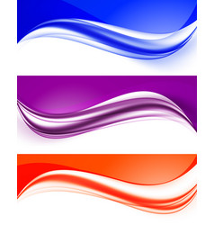 Abstract curved wavy lines set vector