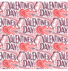 Seamless pattern for happy valentines day vector