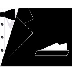 Mens suit the tuxedo business card vector