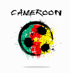 flag of cameroon as an abstract soccer ball vector image