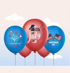 Holiday balloons 4th of july national vector