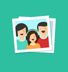 Happy family photo flat vector