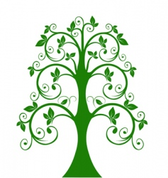 openwork tree vector image