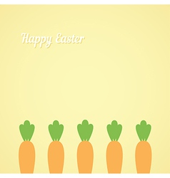Easter with carrots vector