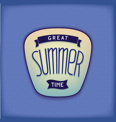 Summer label design vector