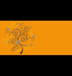 Design floral tree vector