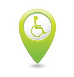 Handicap symbol on green marker vector