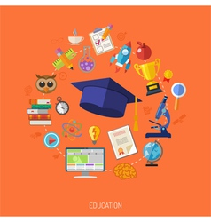 Online education concept vector