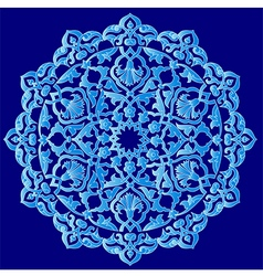 Blue artistic ottoman pattern series ninety one vector