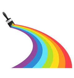 rainbow brush vector image