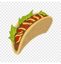 Cartoon mexican taco vector