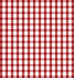 Tablecloth in red and white vector