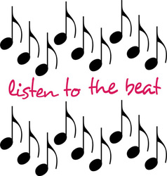 Listen to the beat vector