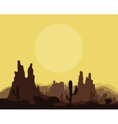 Mountains in the desert vector image