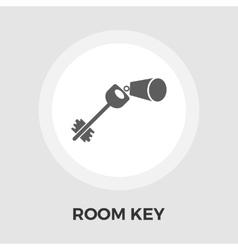 Room key line icon vector