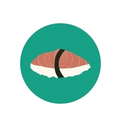 Sushi with salmon vector