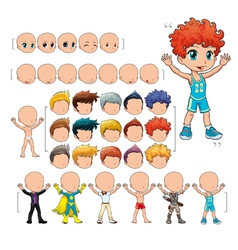 Avatar boy isolated objects vector image vector image