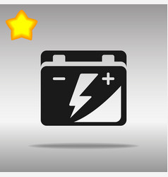 Black car battery icon button logo symbol concept vector